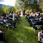 Outdoor wedding in Golden, BC