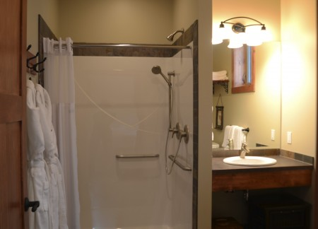 Wheelchair accessible onsuite bathroom