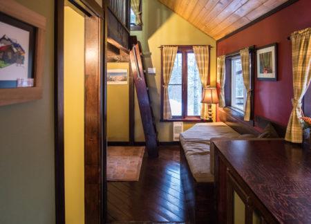 hallway at cedar house cabin
