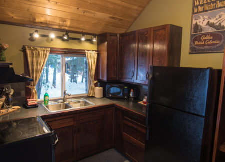 cabin in golden bc with kitchen