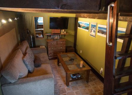 living room in golden bc chalets