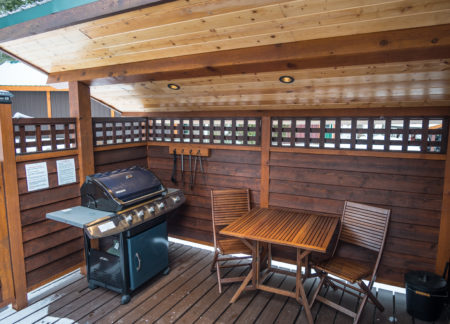 cabins in golden bc with private deck & bba