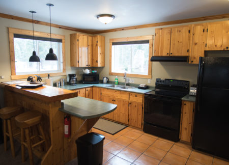 cabins golden bc with fully equipped kitchen