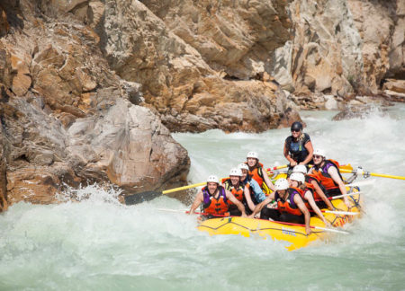 golden cabins package with white water rafting